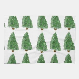 メリークリスマスの木 キッチンタオル