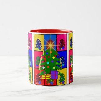 メリークリスマスの木 ツートーンマグカップ