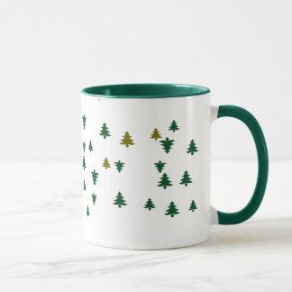 メリークリスマスの松の木 マグカップ