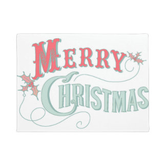 メリークリスマスの歓迎 ドアマット