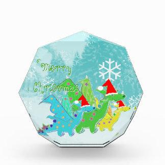 メリークリスマスの漫画のドラゴンの装飾 表彰盾