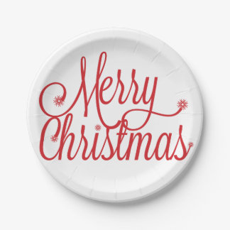 メリークリスマスの紙皿 ペーパープレート
