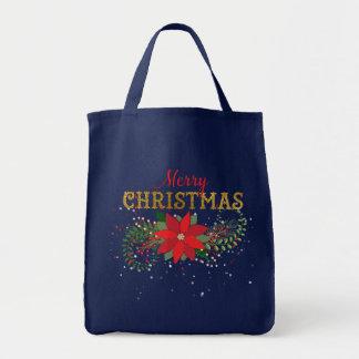 メリークリスマスの英国の青い海兵隊員 トートバッグ