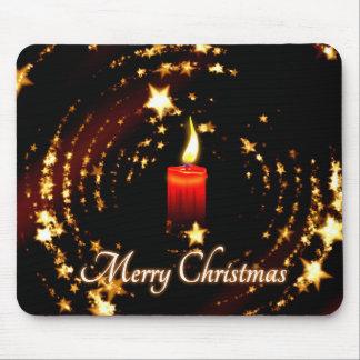 メリークリスマスの蝋燭は絵を主演します マウスパッド