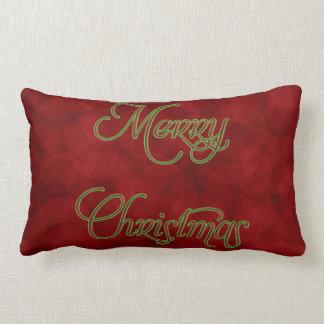 メリークリスマスの赤いMoJoの装飾用クッション ランバークッション