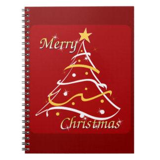 メリークリスマスの赤の木 ノートブック