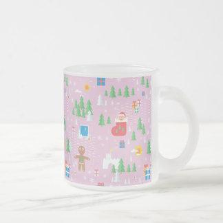 メリークリスマスの透明なマグ フロストグラスマグカップ