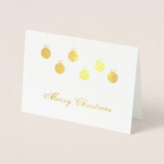 メリークリスマスの金ゴールドのつまらないもの 箔カード