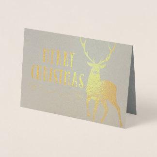 メリークリスマスの雄鹿 箔カード