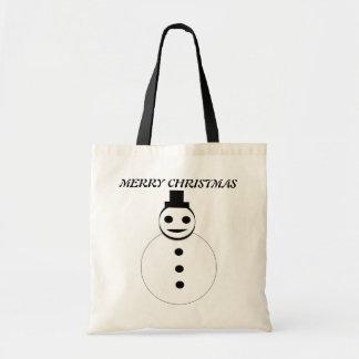 メリークリスマスの雪だるまのカスタムのギフトバッグ トートバッグ
