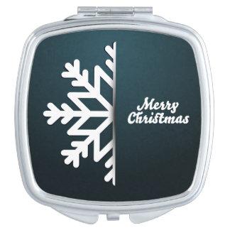 メリークリスマスの雪片の青