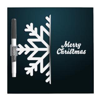 メリークリスマスの雪片の青 ドライイレースボード