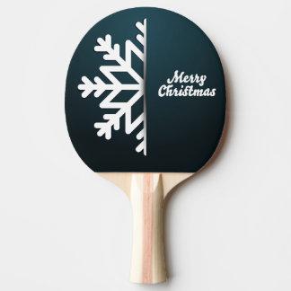 メリークリスマスの雪片の青 卓球ラケット