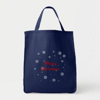 メリークリスマスの雪片 トートバッグ