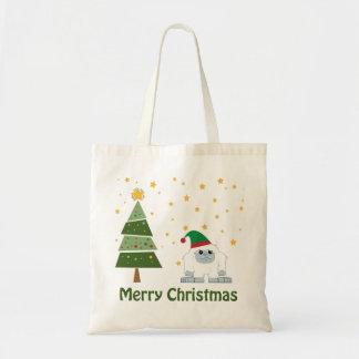 メリークリスマスの雪男 トートバッグ