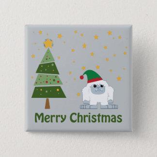 メリークリスマスの雪男 5.1CM 正方形バッジ
