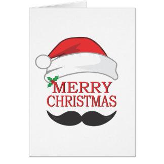 メリークリスマスの髭カード カード