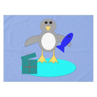 メリークリスマスの魚釣りのペンギンのテーブルクロス テーブルクロス