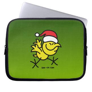 メリークリスマスの鶏 ラップトップスリーブ