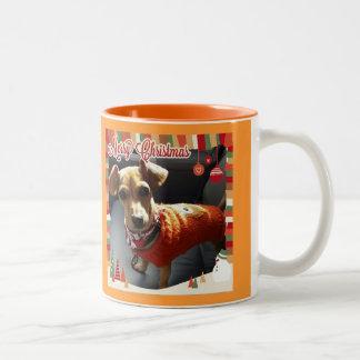 メリークリスマスのChiweenieのマグ ツートーンマグカップ