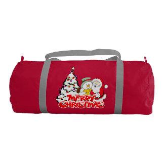 メリークリスマスのDuffleの体育館のバッグ ジムバッグ