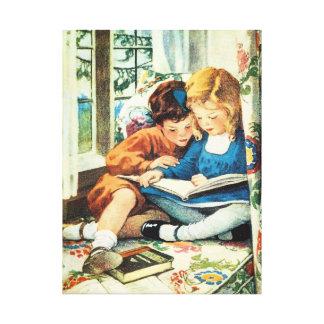 メリークリスマスのJessie Willcoxスミスの絵 キャンバスプリント
