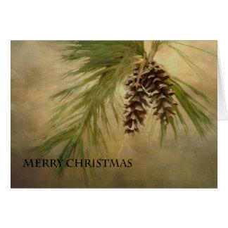 メリークリスマスのPineconeカード カード