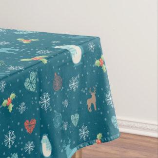 メリークリスマスはパターン-冬パターン--を束ねます テーブルクロス