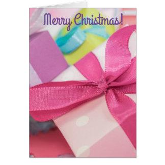 メリークリスマスは挨拶状を示します カード