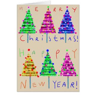 メリークリスマスは芸術のクリスマスカードをからかいます カード