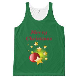 メリークリスマスはnの球のタンクトップを主演します オールオーバープリントタンクトップ