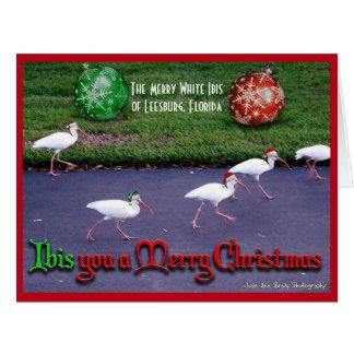 メリークリスマスを望みます カード