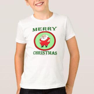 メリークリスマスを望むサンタ Tシャツ