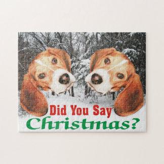 メリークリスマスを言いましたか。 ビーグル犬 ジグソーパズル