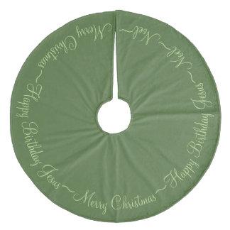 メリークリスマスイエス・キリスト フリース ツリースカート