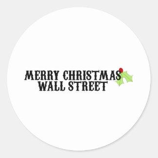メリークリスマスウォールストリート ラウンドシール