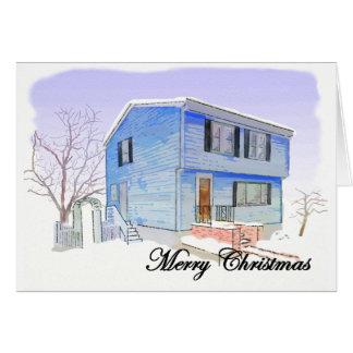 メリークリスマスカード(雪の家) カード