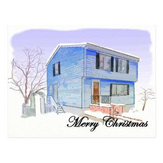 メリークリスマスカード(雪の家) ポストカード