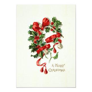 メリークリスマスカード 12.7 X 17.8 インビテーションカード