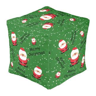 メリークリスマスサンタクロース プーフ