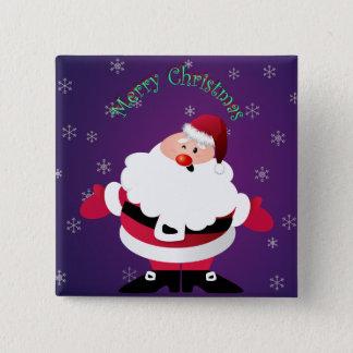 メリークリスマスサンタクロース 5.1CM 正方形バッジ
