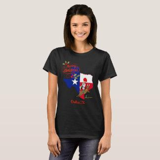 メリークリスマスダラステキサス州 Tシャツ