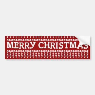 メリークリスマスパターン バンパーステッカー
