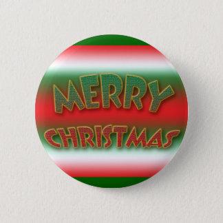 メリークリスマスボタン及びバッジのクリスマスのことわざ 5.7CM 丸型バッジ