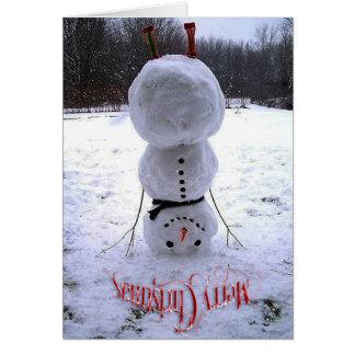 メリークリスマス及び幸せな年賀状 カード