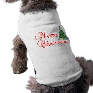 メリークリスマス犬のワイシャツ ペット服