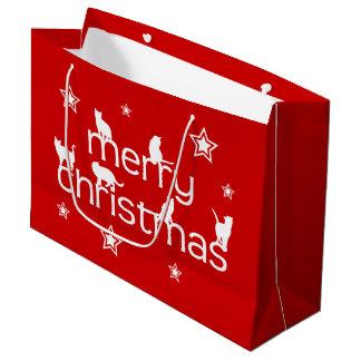 メリークリスマス猫 ラージペーパーバッグ