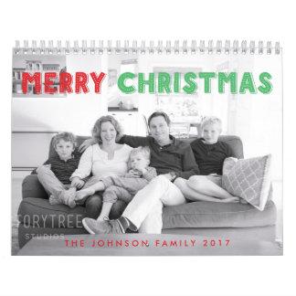 メリークリスマス2017年の名前入りなカレンダー カレンダー