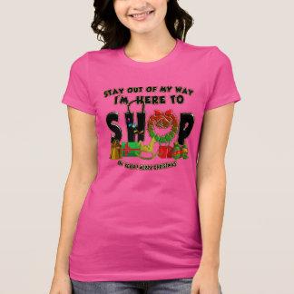 メリークリスマス-おもしろいな休日のショッピングのTシャツ Tシャツ