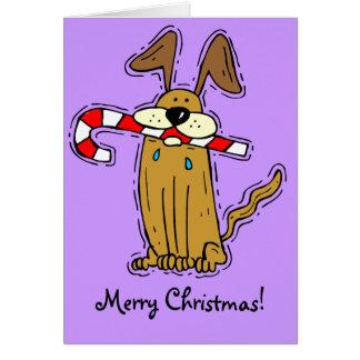 メリークリスマス! そして犬を忘れないで下さい! カード